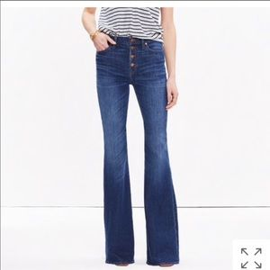 NWT Madewell Flea Market Flares Size 26 Jeans
